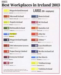 Version 1 5th Best Workplace in Ireland 2013