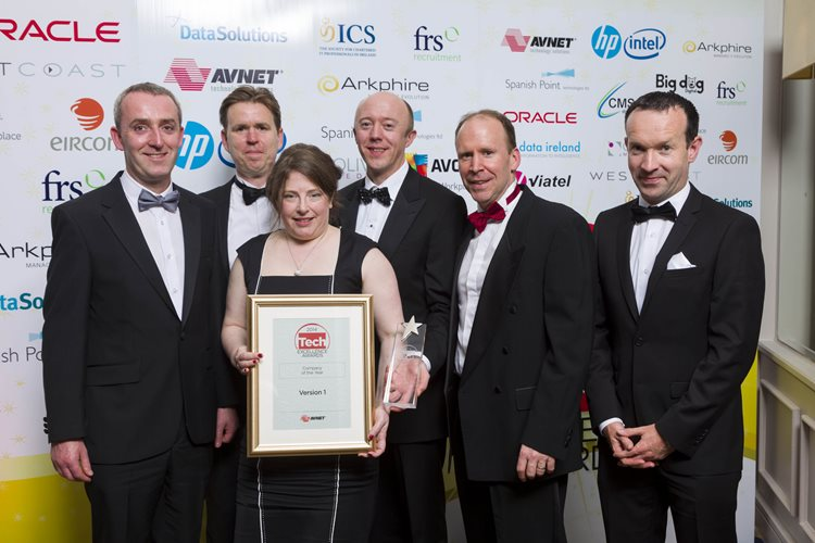 Version 1 wins Company of the Year at Tech Excellence awards 2014