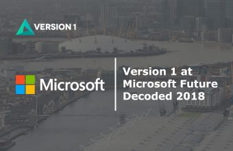 Version 1 attending Microsoft Future Decoded